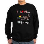 Skijoring Horse Sweatshirt (dark)