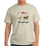 Skijoring Horse Light T-Shirt