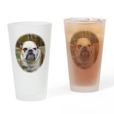 Bulldog Lola Portrait Drinking Glass