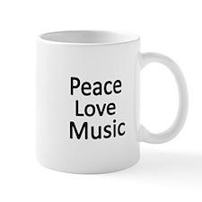 Peace,Love,Music Mugs