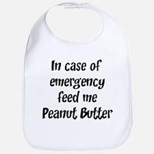 Feed me Peanut Butter Bib
