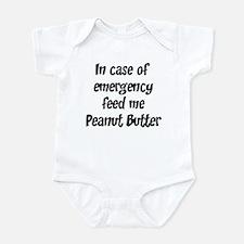 Feed me Peanut Butter Infant Bodysuit