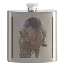 Snowy Winter Pony Flask