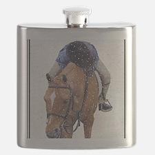 Snowy Winter Pony Flask