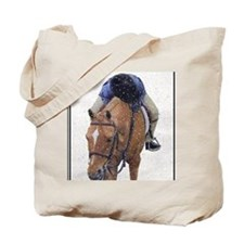 Snowy Winter Pony Tote Bag