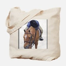 Snowy Winter Pony Tote Bag