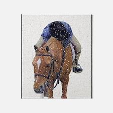 Snowy Winter Pony Throw Blanket
