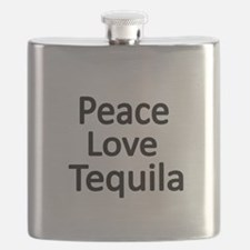 Peace,Love,Tequila Flask