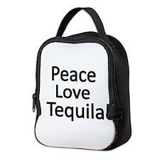 Peace,Love,Tequila Neoprene Lunch Bag