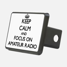 Keep calm and focus on Amateur Radio Hitch Cover