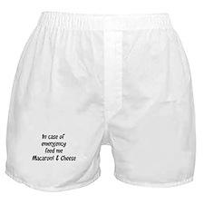 Feed me Macaroni & Cheese Boxer Shorts