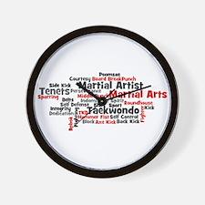 Martial Arts Taekwondo Wall Clock