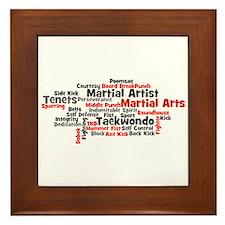 Martial Arts Taekwondo Framed Tile