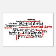 Martial Arts Taekwondo Postcards (Package of 8)