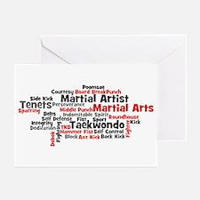 Martial Arts Taekwondo Greeting Cards (Pk of 10)