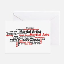 Martial Arts Taekwondo Greeting Card