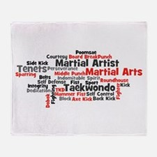 Martial Arts Taekwondo Throw Blanket