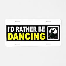 DANCING Aluminum License Plate