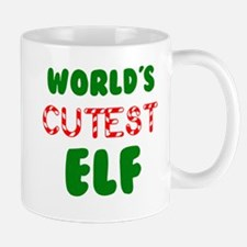 Worlds CUTEST Elf! Mugs