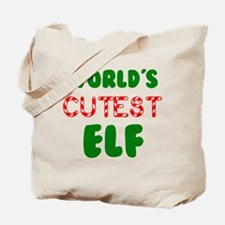 Worlds CUTEST Elf! Tote Bag
