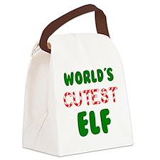 Worlds CUTEST Elf! Canvas Lunch Bag