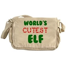 Worlds CUTEST Elf! Messenger Bag