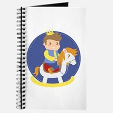 Cute Little Prince on Rocking Horse, for boys Jour