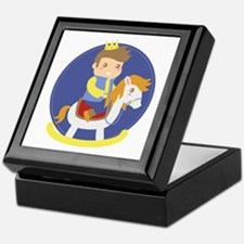Cute Little Prince on Rocking Horse, for boys Keep