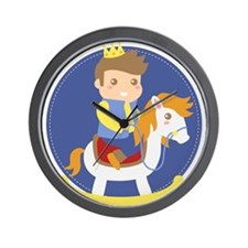 Cute Little Prince on Rocking Horse, for boys Wall