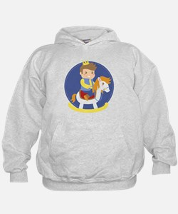 Cute Little Prince on Rocking Horse, for boys Hood