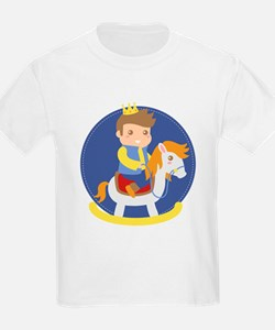Cute Little Prince on Rocking Horse, for boys T-Sh