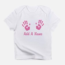 Baby Girl Pink Handprints Infant T-Shirt
