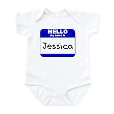 hello my name is jessica  Infant Bodysuit