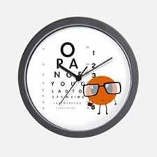 Orange You Glad Wall Clock