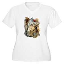 Yorkie Red Bow T-Shirt