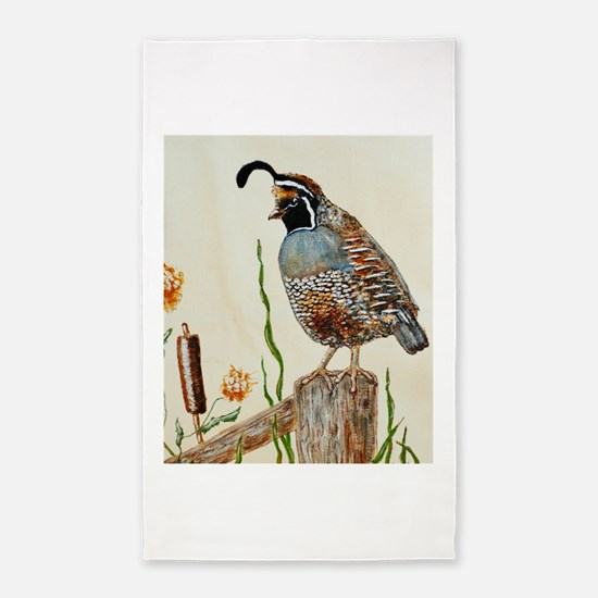 California Quail 3'x5' Area Rug