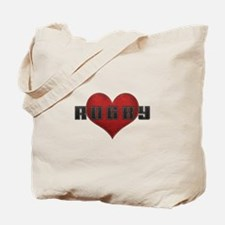 Love Rugby Leather Finish Look Tote Bag
