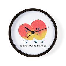 Two To Mango Wall Clock
