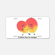 Two To Mango Aluminum License Plate