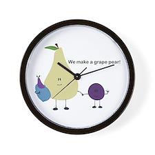 Grape Pear Wall Clock