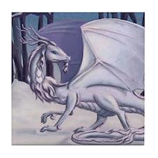 Snow Dragon Tile Coaster
