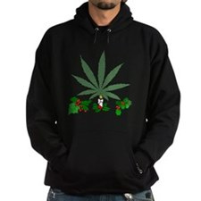 Pretty Xmas Marijuana Leaf Hoody