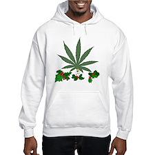Pretty Xmas Marijuana Leaf Hoodie