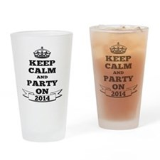 Keep Calm and Party on 2014 Drinking Glass