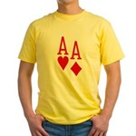 Pocket Aces Poker Yellow T-Shirt