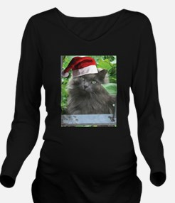 Christmas Russian Blue Long-haired Cat Long Sleeve