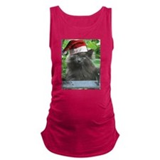 Christmas Russian Blue Long-haired Cat Maternity T