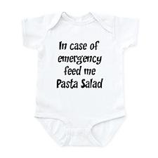 Feed me Pasta Salad Infant Bodysuit