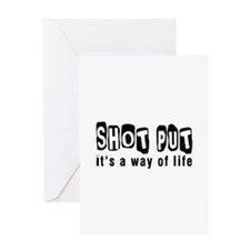 Shot Put it is a way of life Greeting Card