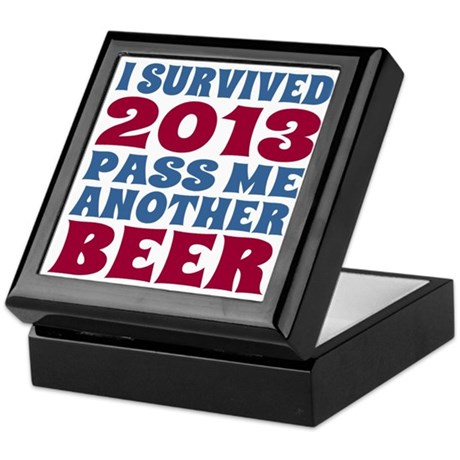 I Survived 2013 Pass Me Another Beer Keepsake Box